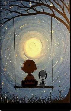 Charlie Brown and Snoopy under the moon. - Gema - Charlie Brown and Snoopy under the moon. Charlie Brown and Snoopy under the moon. Comics Peanuts, Peanuts Cartoon, Peanuts Snoopy, Snoopy Comics, Charlie Brown Y Snoopy, Charlie Brown Quotes, Snoopy Und Woodstock, Snoopy Pictures, Funny Pictures