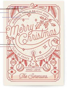 """""""Merry Little Lines"""" - Customizable Holiday Postcards in Red by GeekInk Design. """"Merry Little Lines"""" - Customizable Holiday Postcards in Red by GeekInk Design. Holiday Postcards by Minted Christmas Party Poster, Christmas Fonts, Christmas Doodles, Christmas Flyer, Merry Christmas Eve, Christmas Graphics, Christmas Holidays, Christmas Cards, Calligraphy Christmas"""