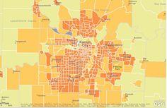 #ESRI Population density of Kansas City  from free Esri ArcGIS.com map viewer @ http://arcgis.com