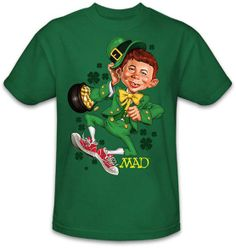 Whether you're Irish, or just feel like it on St. Patrick's Day, the wearin' o' the green is a necessity. So. wearing funny green t-shirt will work!