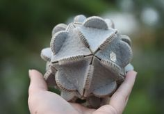 Laser cut wool felt from Jessica James. << Elements are cut from felt and hand-sewn together. ball toy project