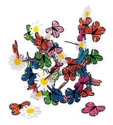 Butterflies and flowers connectagons