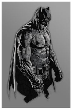 Hi there. Another collaboration with Steve Kurth. Batfleck! Nana nana nana nana, nana nana nana nana, Batfleck! If you'd like to purchase this print check out Steve's ...