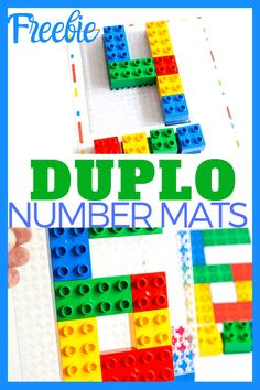 Fun free printable LEGO DUPLO Number Mats for toddlers and preschoolers. Kids can use DUPLO blocks and these counting mats to practice number recognition and one to one correspondence! Lego Math, Fun Math, Lego Lego, Preschool Math, Kindergarten, Free Printable Numbers, Printable Puzzles, Printables, Counting Activities
