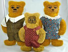 Adorable family bear. German mohair artist bear. by ParisJavaDolls