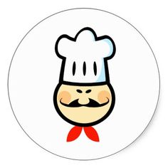 Shop Chef Chefs Cook Cooking Food Cartoon Funny Classic Round Sticker created by blueskygiftshop. Personalize it with photos & text or purchase as is! 24 Hour Salad, Wedding Food Bars, Chefs, Food Clipart, Vector Clipart, Mexican Dessert Recipes, Food Cartoon, Food Wallpaper, How To Make Sandwich