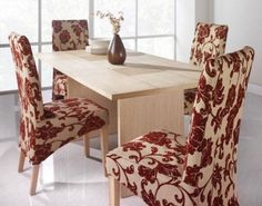 Charmant Photo 01 Fresh Dining Room Chair Covers With Flower Pattern Dining Chair  Slipcovers, Fabric Dining
