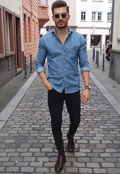 65 Ideas Moda Masculina Casual Fashion Simple Source by Outfits mezclilla Summer Business Casual Outfits, Stylish Mens Outfits, Che Guevara T Shirt, Mode Outfits, Fashion Outfits, Fashion Boots, Urban Outfits, Fashion Clothes, Mode Man