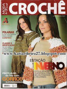 Katia Ribeiro Acessórios: Revistas Completas - Gorros, polainas, bolsas, carteiras em crochê