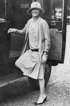 This is Gabrielle Chanel herself at Biarritz circa 1924. Notice how much easier it is to move in this outfit, that in the previous one (Lady with a Dog) of ten years earlier.
