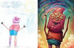"""Varios #Artistas se unieron para re-dibujar los """"monstruos"""" de niños y el resultado es genial"""