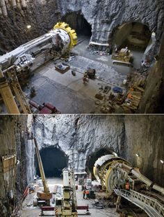 If you don't know about Tunnel-Boring Machines, you better pay attention. Frigging awesome.