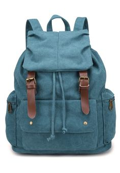 Triple Pockets Canvas Backpack