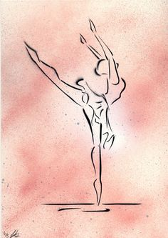 'Oltremare' Ballet Dancer painting