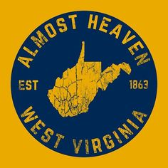 State Map, Vintage Gifts, West Virginia, Instagram Images, Virginia University, Heaven, Country Roads, Wall Art, Sky