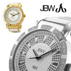 JBW 562 Diamond Pave Dial Chronograph Rubber Band Men's Watch. Ballin!!!