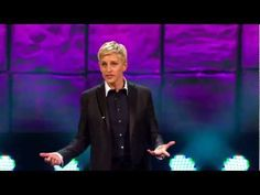 See what Ellen DeGeneres said in her acceptance speech after receiving the 2012 Mark Twain Prize for American Humor.