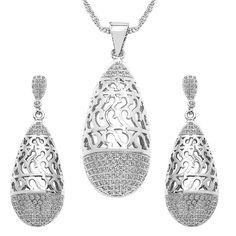 CZ Studded Brass Pendant, Earrings Set with Chain #pokemongonews #topjewellery #trendingjewellery #dailytrends