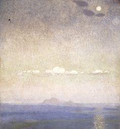 'Landscape 1903 by Konstantinos Parthenis Egypt) Impressionist Paintings, Landscape Paintings, Pop Art, Sun And Stars, Post Impressionism, Greek Art, City Art, Nocturne, Portrait