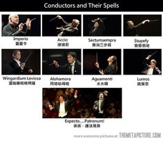 Conductors and their spells… it's funny because its a music joke and a Harry Potter joke all at once!