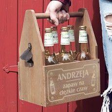 Grawerowane nosidło na piwo ZAPASY