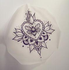 Traditional American Bee Tattoo