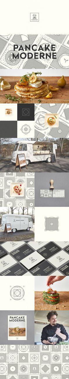 Feiner Herr - Identity Design - Logomark, Logotype, Graphic Design, Visual Identity, Pancake, Top Hat, Man, Face, Mustache, Hipster, Modern, Black & White