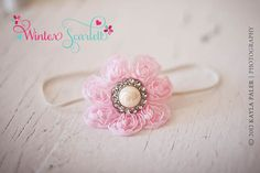 20 offDaisy shabby chic flower headband baby by WinterScarlett, $5.99
