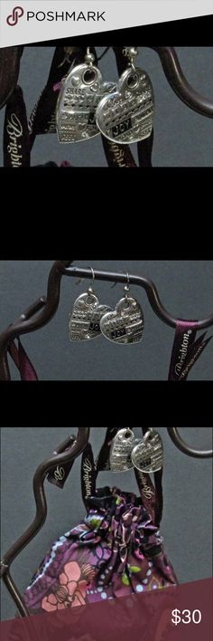 An inspiring pair of Brighton Earrings ! Worn once These inspirational (Share, Hope and Love) Brighton earrings are a nice gift to yourself or for someone special! Brighton Jewelry Earrings