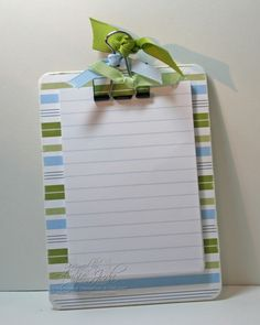 Stampin Up clipboard Projects | ... one in every designer paper we have in our Stampin' Up! catalog