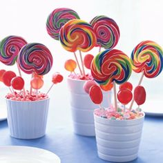Lollipops are so inexpensive, this is great for kiddie parties!
