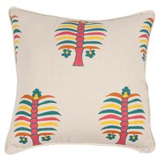 "Image of Fez Palm Peony Single Sided 22"" Pillow"