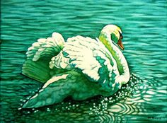 Margaret Horvat's a little daily painting: Stratford Swan I (See Ya Later)