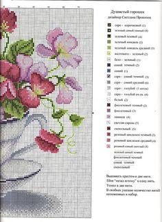 Kanaviçe çiçek tablo