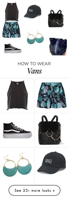 """""""#100"""" by ajseymour on Polyvore featuring River Island, Vans, SO and Chloé"""