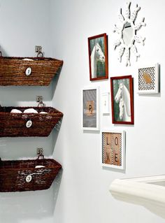 diy design ideas for new small bathroom wall decor with bathroom design in small bathroom decor ideas 23 bathroom storage and images, pictures, ideas Small Bathroom Organization, Home Organization, Bathroom Ideas, Bathroom Baskets, Bathroom Shelves, Design Bathroom, Organized Bathroom, Downstairs Bathroom, Ikea Bathroom