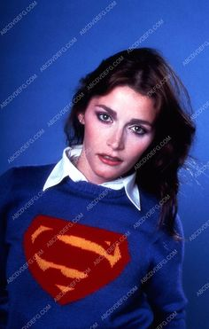 Margot Kidder in a Superman sweater 35m-5607