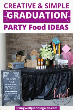 Check out these fun and easy graduation party ideas for high school. We highlight unique graduation party invites and graduation party food ideas for your high school senior. Graduation Party Desserts, Outdoor Graduation Parties, Graduation Party Planning, Graduation Party Themes, Graduation Party Invitations, Invites, High School Parties, Theme Ideas, Party Ideas