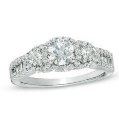 1-1/5 CT. T.W. Diamond Three Stone Past Present Future Ring in 14K White Gold - Zales, FOR DEBBIE!