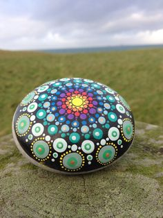 Hand Painted Mandala Stone From IONA