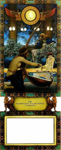 Maxfield Parrish - Advertising: Edison Mazda, Egypt (1922) Parrish