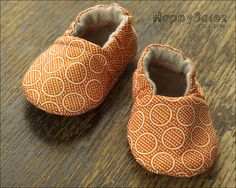 Orange Dream Baby Booties by yours truly