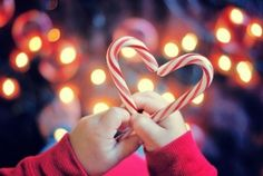 Keep calm Christmas is coming! Avoid holiday stress with a little Pinterest holiday inspiration to keep you smiling your way through the season.  Tis the season.... to smile!  christmas decor   candy cane heart photo