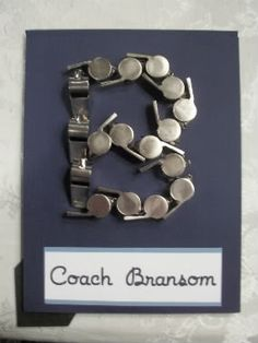 "Message Boards - ""Teacher Gift: Remember the colored pencil monogram? (pics) **UPDATE**"" - NSBR Board - Two Peas In A Bucket Teacher Appreciation Week, Teacher Gifts, Teacher Presents, Teacher Tools, Homemade Gifts, Diy Gifts, Crayon Monogram, Football Crafts, Pe Teachers"
