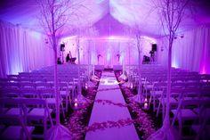 Winter wedding more blue than purple