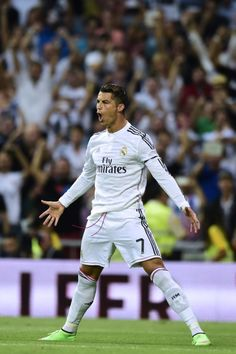 Cristiano Ronaldo of Real Madrid against Atletico Madrid