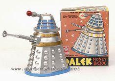 1960s Codeg silver Dalek money box from doctorwhotoys.net