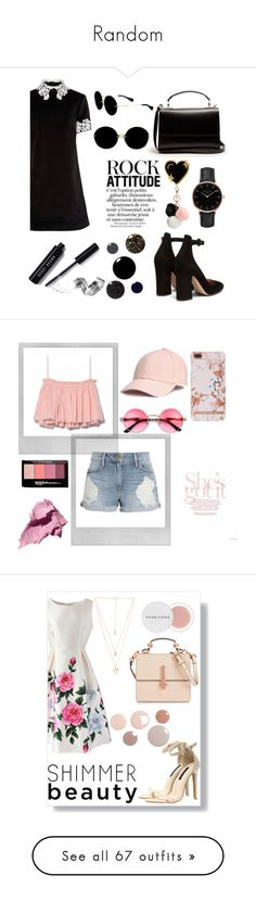 """Random"" by thealicecorfield ❤ liked on Polyvore featuring macgraw, Gianvito Rossi, Sophie Hulme, Stoney Clover Lane, Miu Miu, Topshop, GUESS, Bobbi Brown Cosmetics, Polaroid and Frame"