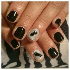 Nails negro con pluma