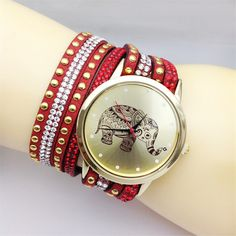 Fashion women watches elephant Lady Girl crystal bracelet watches Multicolor optional Jewelry luxury brand casual quartz watch - free shipping worldwide